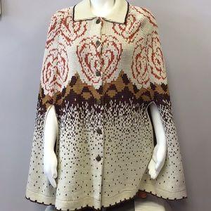 Lane Bryant Vintage Sweater Cape Poncho